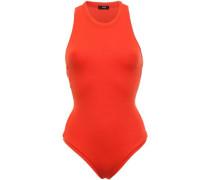 Ribbed Stretch-jersey Bodysuit Orange