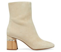 Drum Suede Ankle Boots Beige