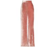 Racquel velvet wide-leg pants