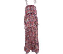 Sam Layered Printed Voile Maxi Dress Multicolor