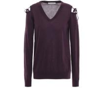 Woman Cold-shoulder Cashmere Sweater Dark Purple