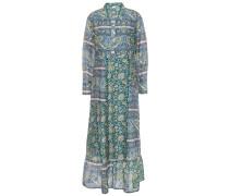Kheti Printed Cotton And Silk-blend Voile Midi Dress