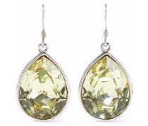 Silver-tone Crystal Earrings Light Green Size --