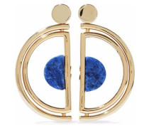 Gold-tone agate earrings