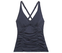 Ruched crepe de chine swimsuit