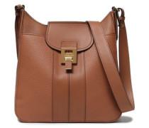 Textured-leather Shoulder Bag Light Brown Size --
