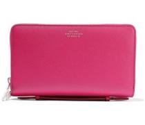Textured-leather Wallet Fuchsia Size --
