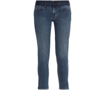 Cropped Low-rise Skinny Jeans Mid Denim  9