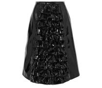 Ruffled patent-leather skirt