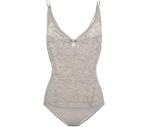 Never Say Never Lace Bodysuit Taupe