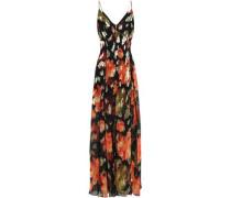 Silk-blend Chiffon Maxi Dress Black