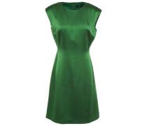 Hammered Satin Mini Dress Leaf Green