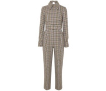 Woman Rosa Cutout Houndstooth Tweed Jumpsuit Multicolor