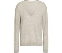 Woman Mélange Wool-blend Sweater Light Gray