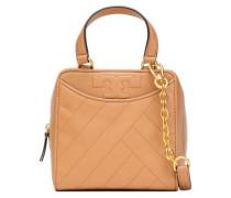 Alexa topstitched leather shoulder bag