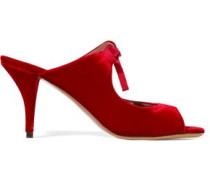 Helene Cutout Velvet Mules Crimson