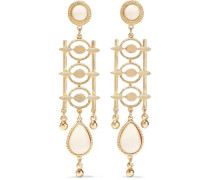 24-karat Gold-plated Stone Earring Gold Size --