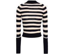Ursula Striped Merino Wool Sweater Navy