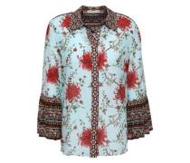 Woman Cotton And Silk-blend Shirt Sky Blue
