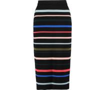 Striped wool midi skirt