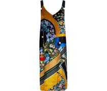 Oskar Printed Velvet Midi Dress Multicolor