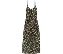 Embellished embroidered silk-georgette maxi dress