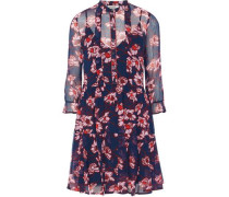 Adelheid floral-print georette mini dress