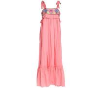 Embroidered cotton-gauze maxi dress