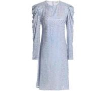 Embellished silk-georgette dress