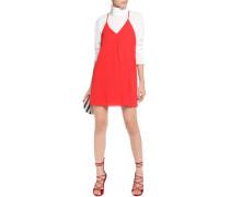 Stretch silk-chiffon mini dress
