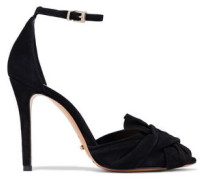Natally knotted suede pumps