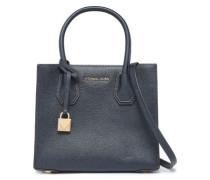 Pebbled-leather Shoulder Bag Navy Size --