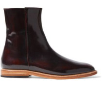 Rod patent-leather ankle boots
