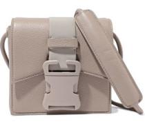 Bonnie Pebbled-leather Shoulder Bag Mushroom Size --
