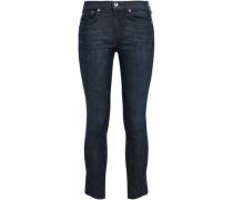 Cropped Low-rise Skinny Jeans Dark Denim  3