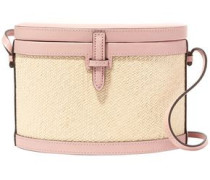 Leather And Woven Raffia Shoulder Bag Baby Pink Size --