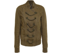 Cotton-blend Twill Jacket Army Green