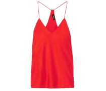 Woman Silk-satin Camisole Red