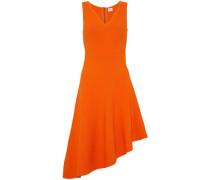 Asymmetric stretch-knit dress