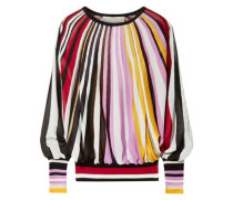 Metallic Striped Knitted Sweater Multicolor