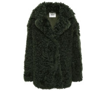 Woman Shearling Coat Forest Green