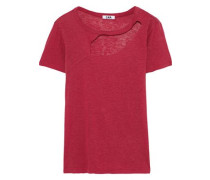 Reprise cutout slub jersey T-shirt