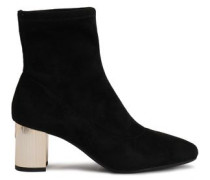 Paloma Faux Suede Ankle Boots Black