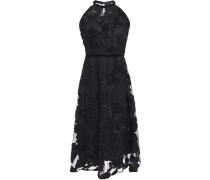 Myranda Velvet-trimmed Embroidered Tulle Dress