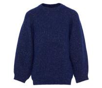 Alliance Marled Ribbed-knit Sweater Indigo