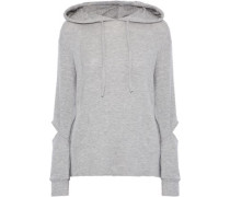 Brushed Axel Cutout Stretch-tencel Hoodie Gray