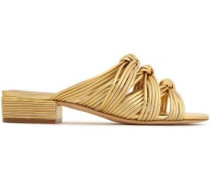 Wren knotted metallic leather sandals