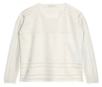 Pointelle-knit sweater