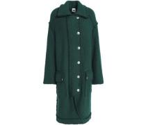 Double-breasted bouclé coat