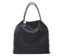 Falabella Chain-trimmed Faux Brushed-leather Tote Midnight Blue Size --